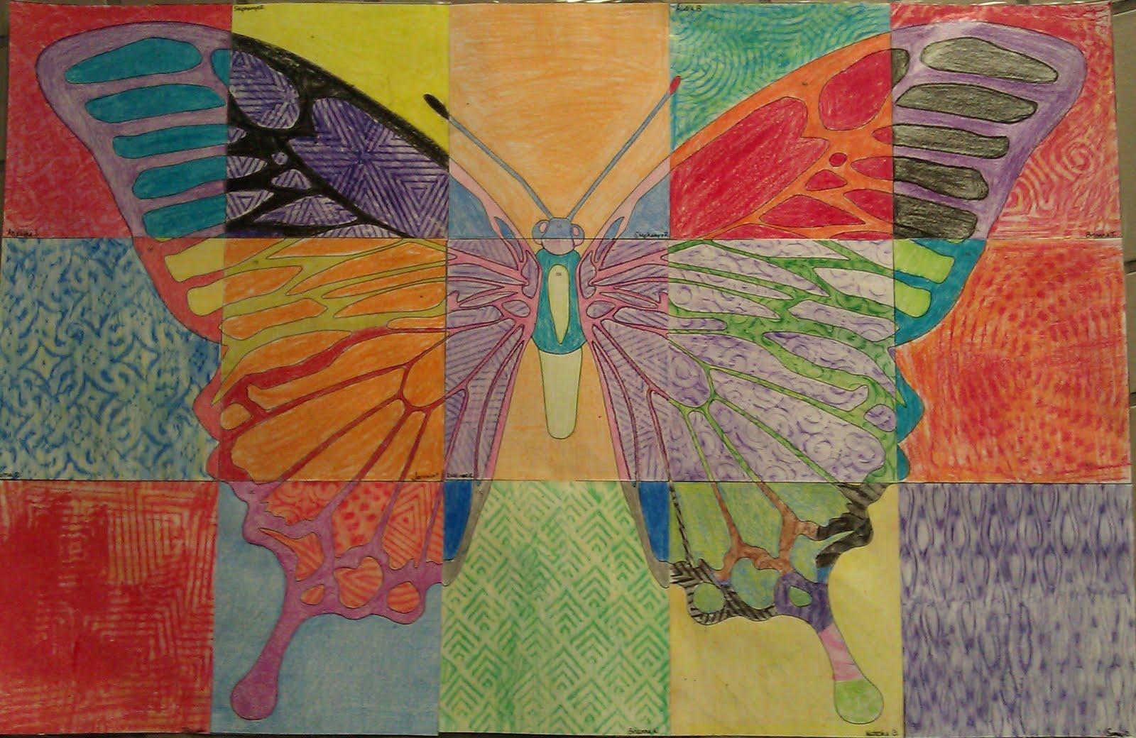 butterfly artwork for kids