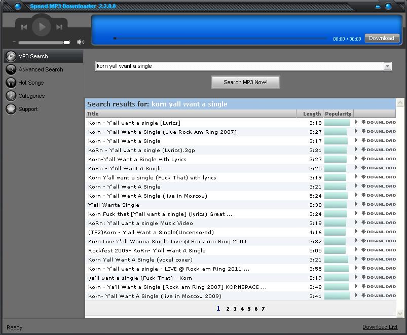 Easy and Search - Speed MP3 Downloader 2.2.0.8 Full Version Incl Crack