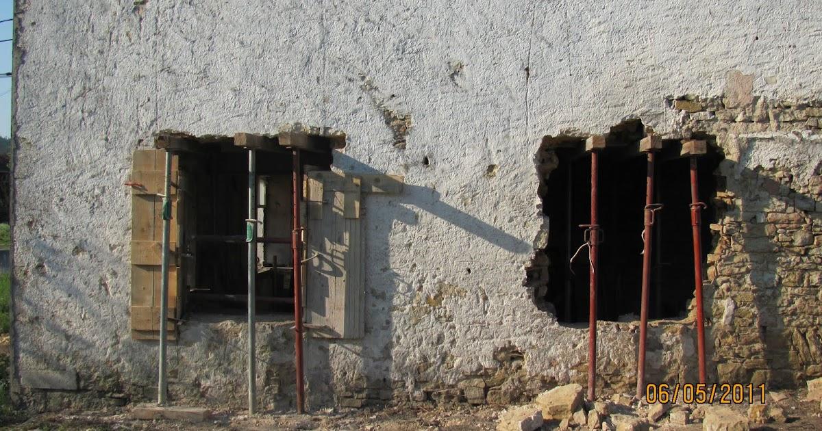 Ma onnerie ouverture de fen tres dans un pignon porteur for Fenetre mur porteur