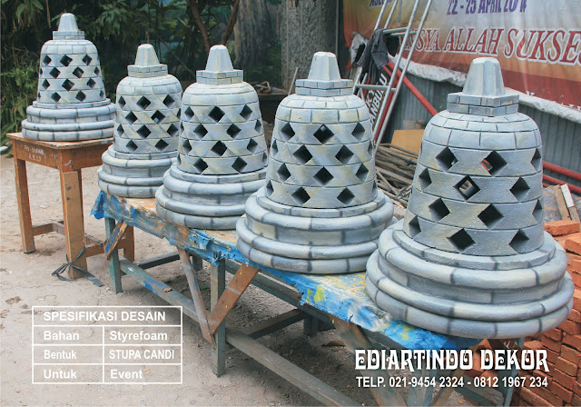 jasa Pembuat Stupa Candi Borobudur dengan bahan dasar styrefoam