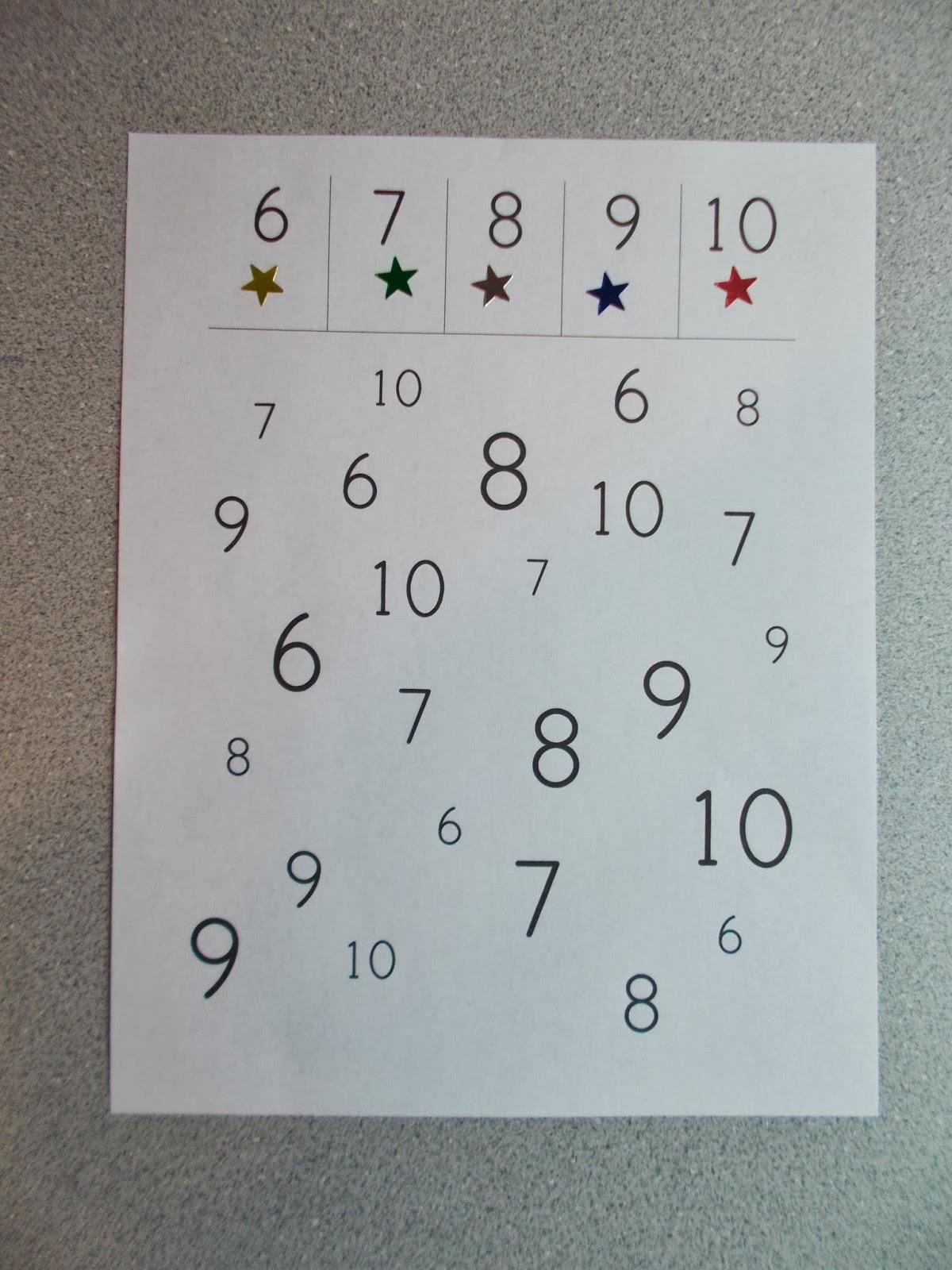 Chipman\'s Corner Preschool: Number Search