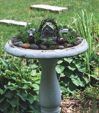 A Fairy Garden House From A Stump Sweetwater Style