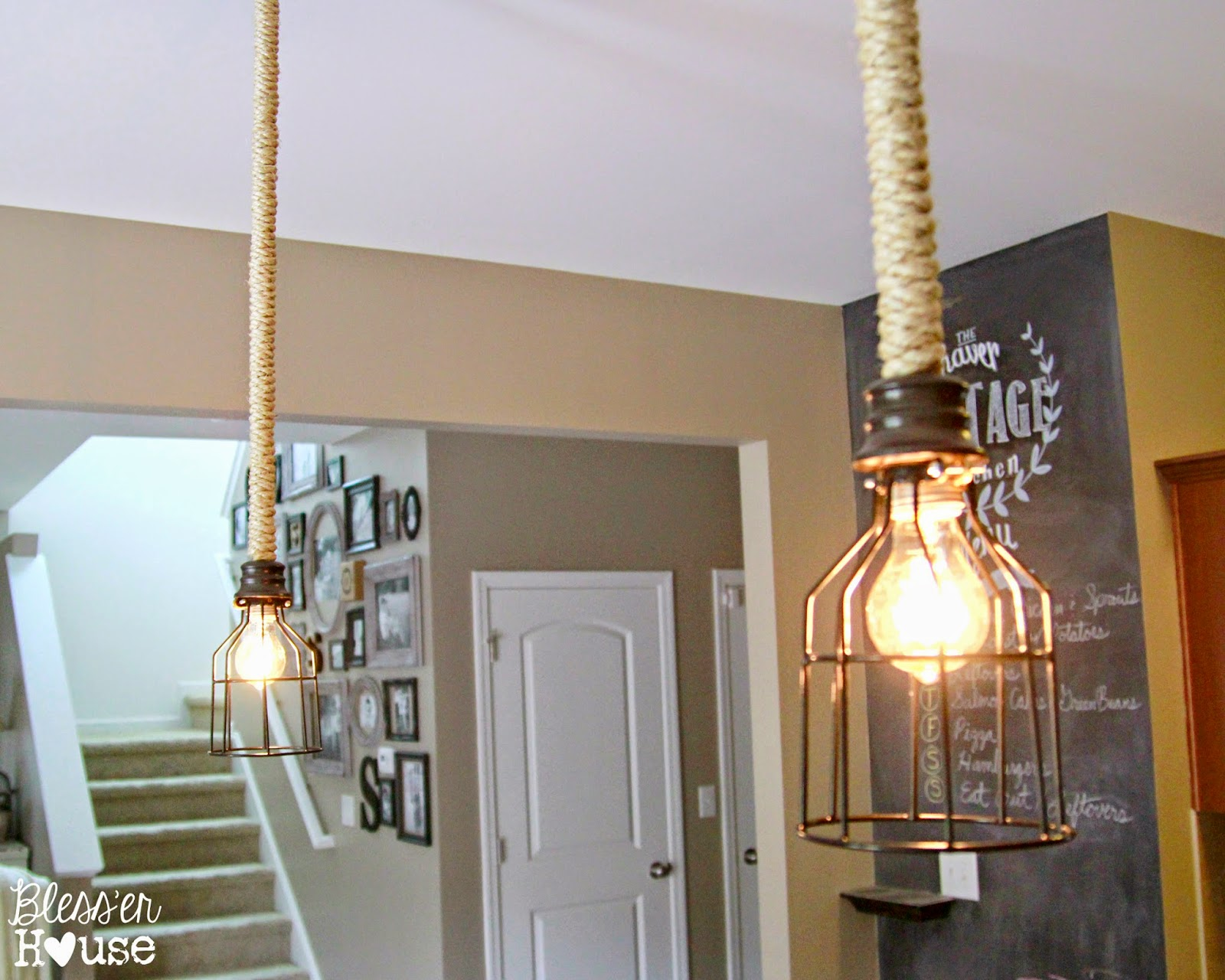 DIY Industrial Pendant Light for Under $10 Bless er House