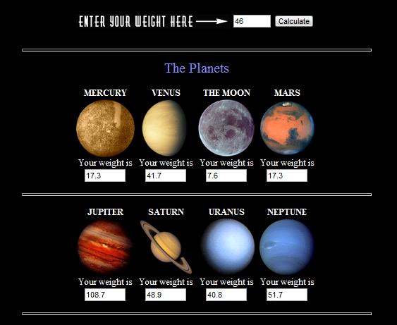 gravity planets solar system - photo #13