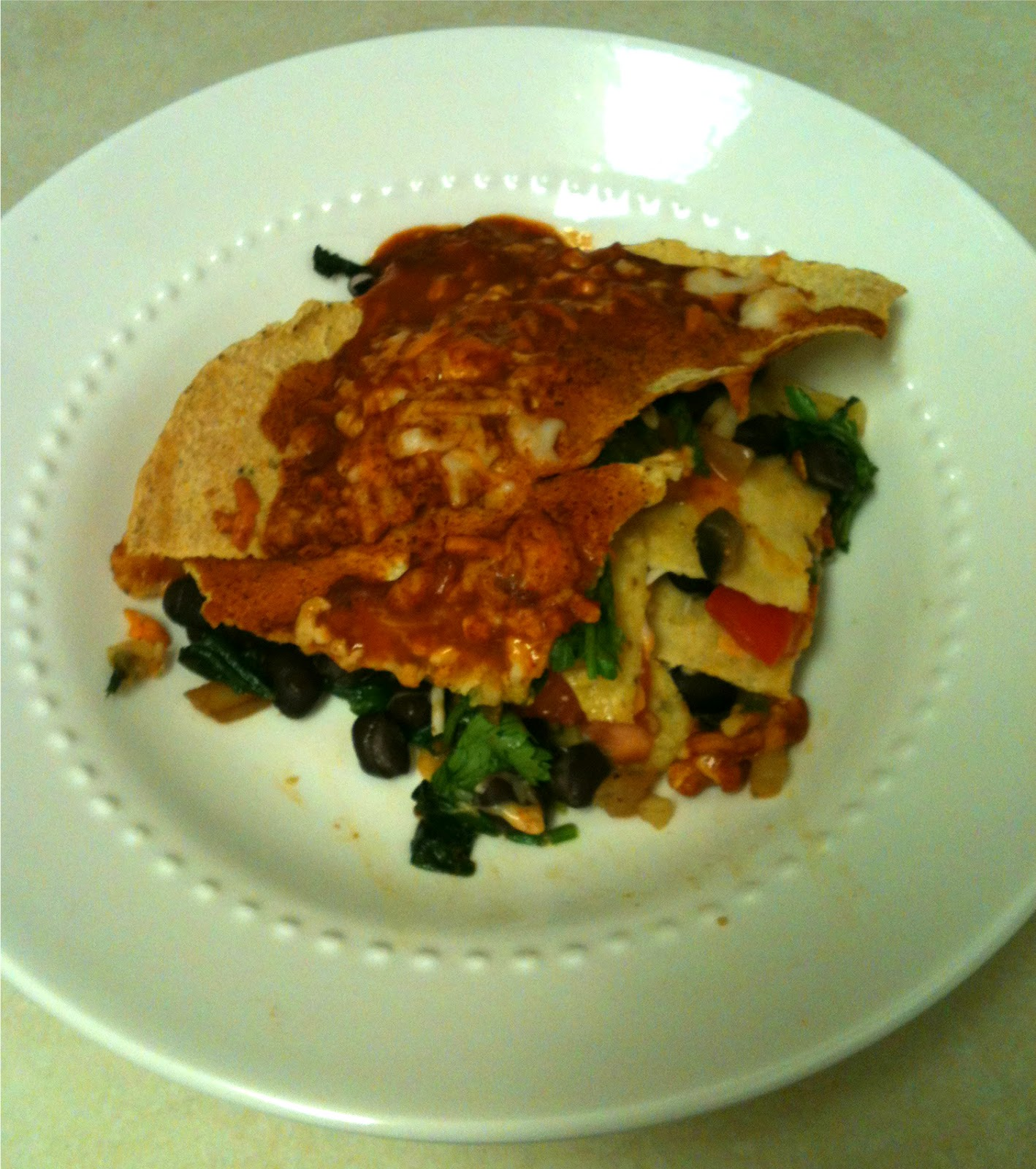 Vita e Pane: Vegetable and Black Bean Tortilla Casserole