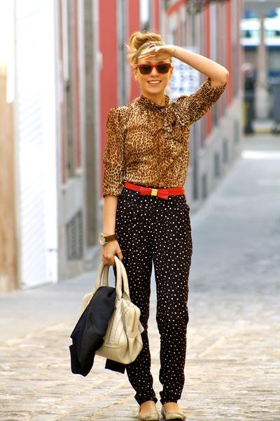 leopard print top, red belt, blog, myhshowroombyp