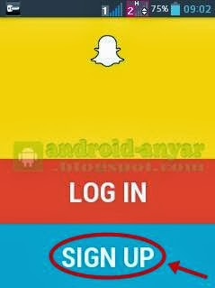 Registrasi Nomer HP ke Snapchat