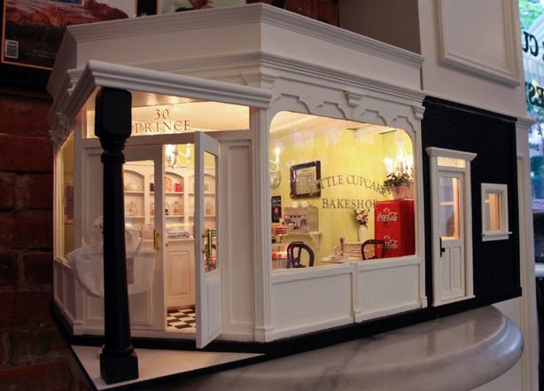 The miniature little cupcake bakeshop in New York