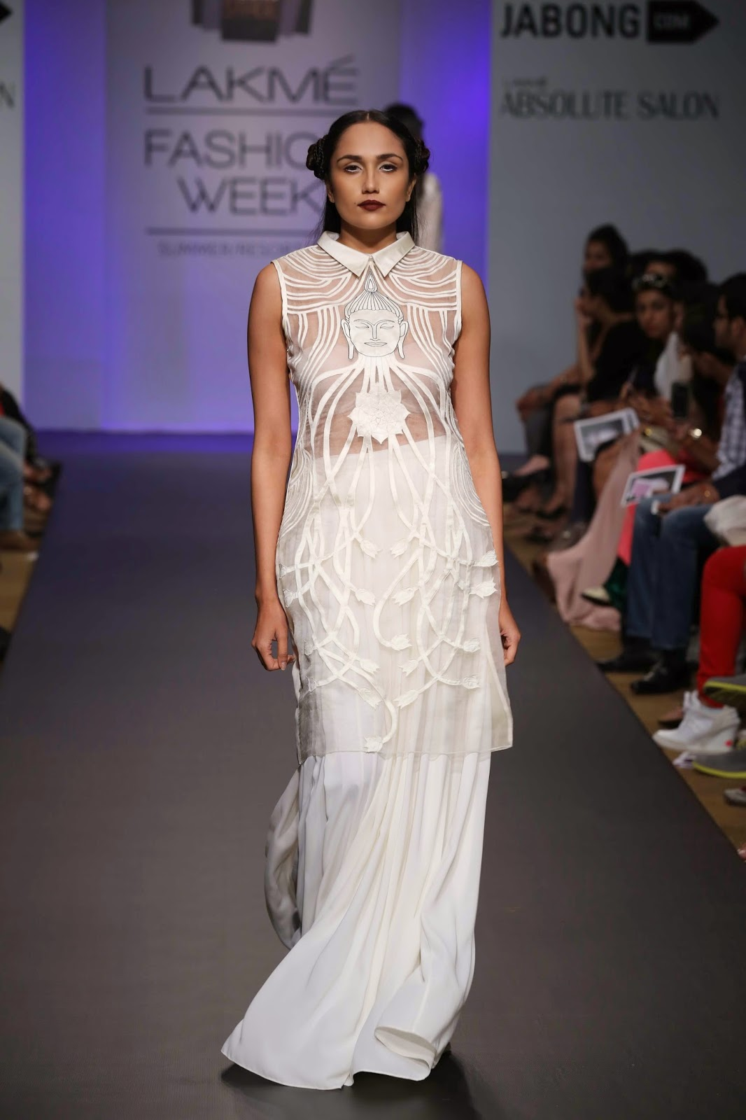 Designer duo Aiman Agha and Armaan Randhawa under their label 'ARMAAN AIMAN' showcased a surreal, fantasy-meets-fashion collection titled 'Buddalicious' at Jabong Stage during Lakmé Fashion Week Summer/Resort 2014.