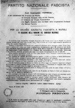 NAPOLI 10 OTTOBRE 1922