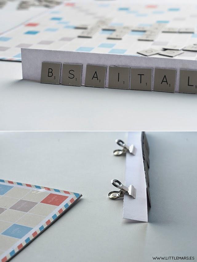DIY Scrabble, scrabble handmade