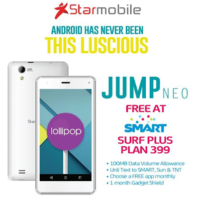 Starmobile Jump NEO at Surf Plus Plan 399!