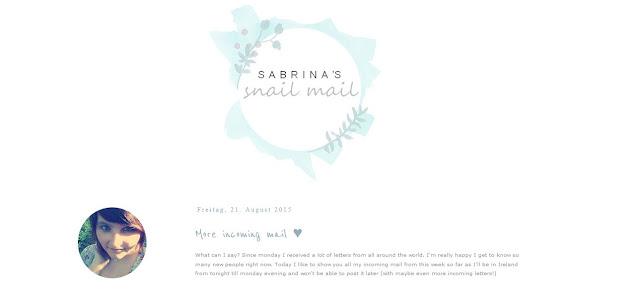 http://sabrinassnailmail.blogspot.de/