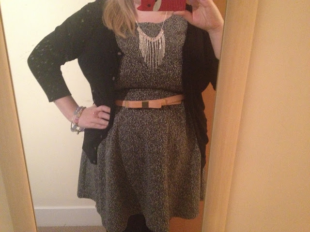 Primark grey dress outfit