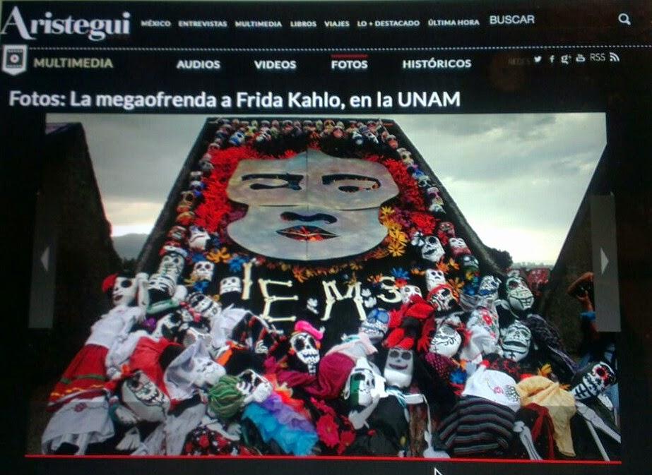 El IEMS en la UNAM                                   imagen tomada de la página de Carmen Aristégui