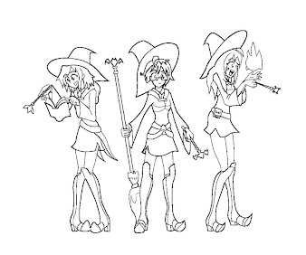 #6 Witch Coloring Page