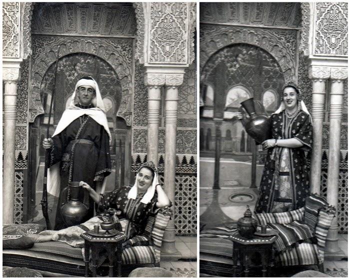 Collage I. En 1953 viajaron a España padre e hija, Luis Alfonso Mejía Escobar y Arabia Mejía Ossa.