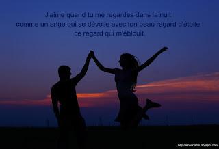 message bonne nuit mon amour deux amoureux