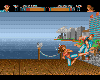 Ass Kicking On The Docks In Body Blows - Amiga