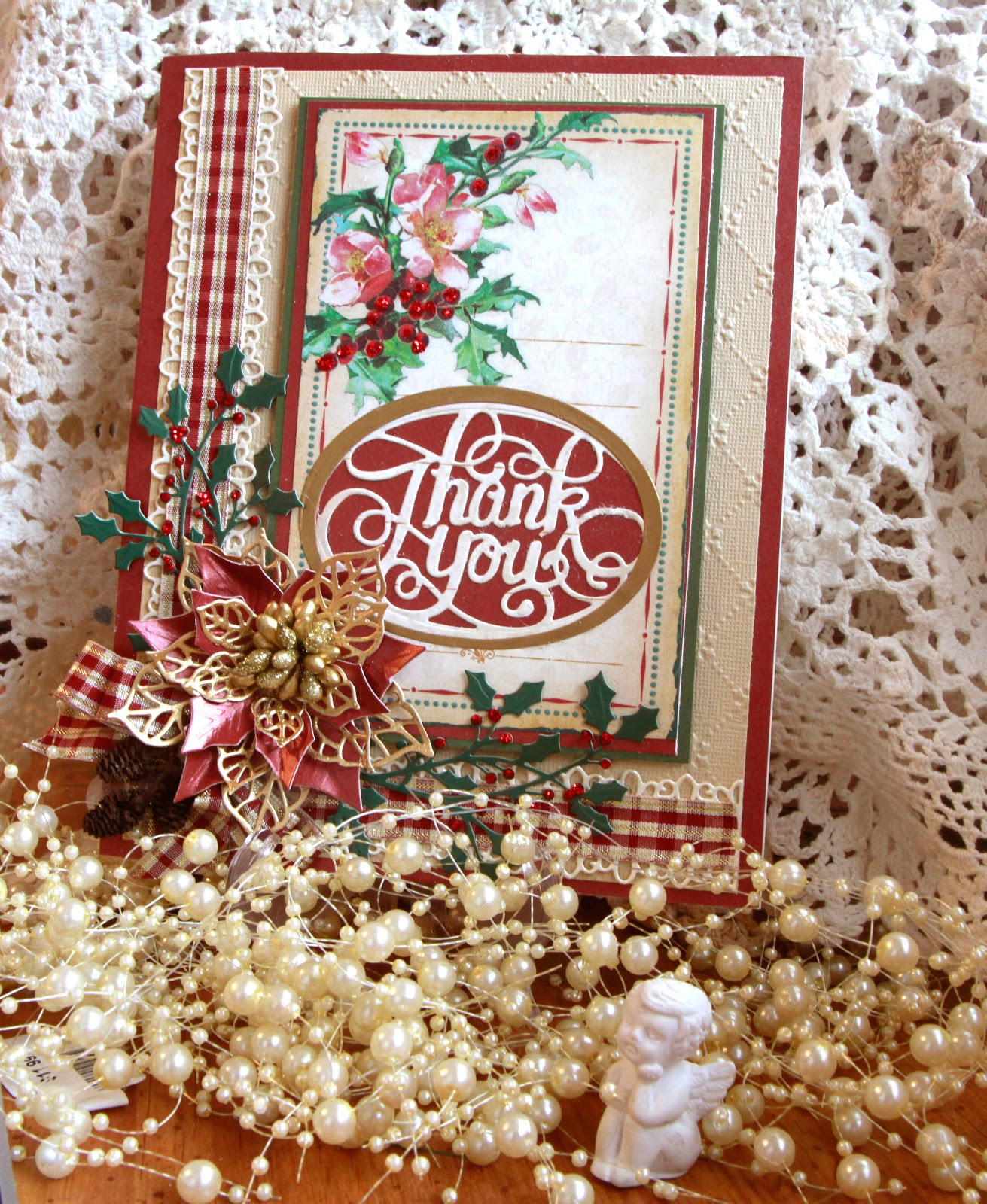 Really Reasonable Ribbon Blog: Vintage Thank You Christmas Card