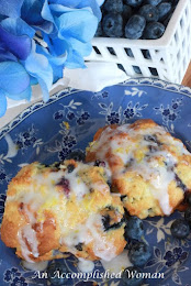 Lemon Blueberry Drop Biscuits
