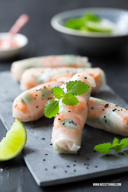 Summer Rolls Food Styling