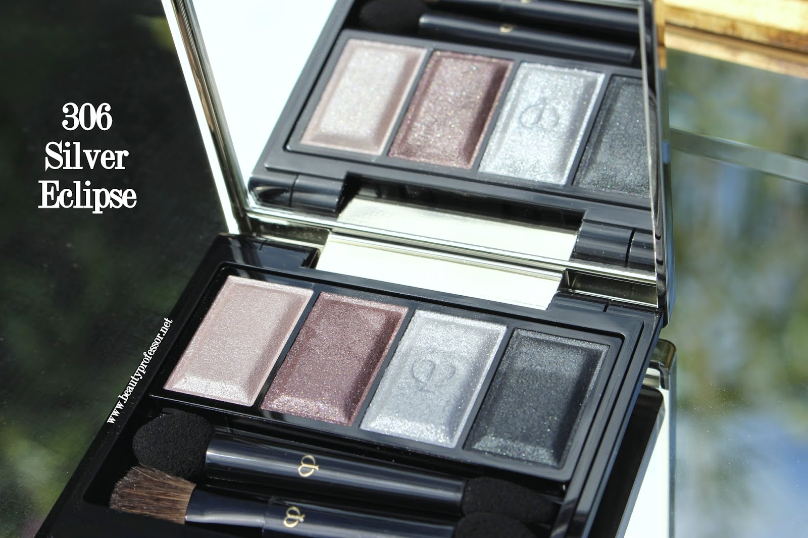 Cle de peau eye color quad 306 silver eclipse swatches