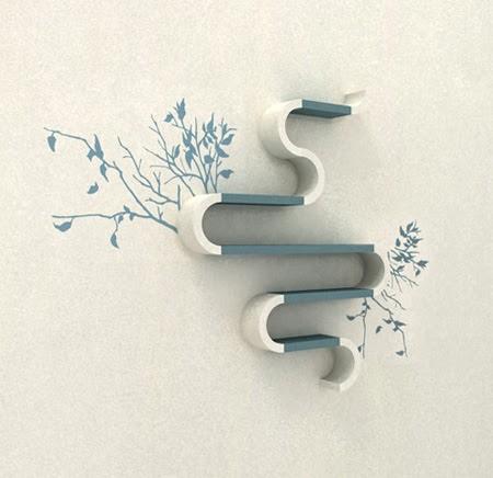 Estanter as modulares de dise o moderno ideas para decorar dise ar y mejorar tu casa - Estanterias diseno pared ...