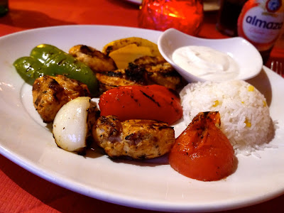 Chicken kebab, Mina, Cathays, Cardiff