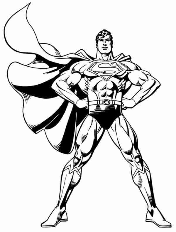 Crafty image in superman printable coloring pages