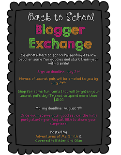 Back to school blogger exchange hash tag