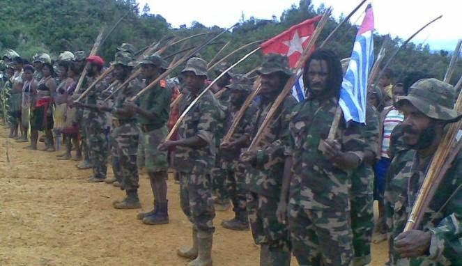Barisan pasukan OPM (Banjir Ambarita/Papua)