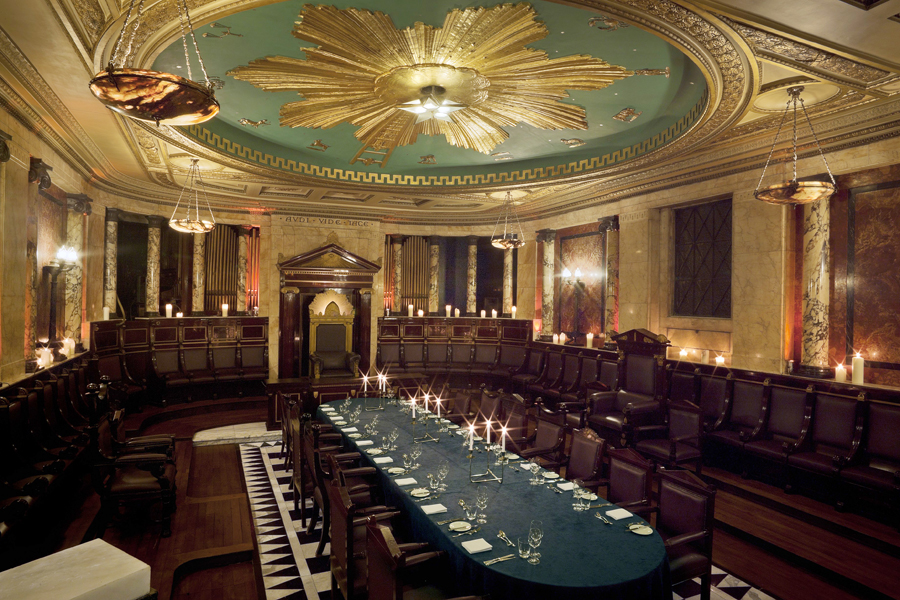 The most opulent Freemason's Temple in London, discovered in the bowels of The Andaz Liverpool Street.