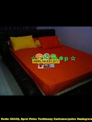 Harga Sprei Polos Testimony Customer/polos Kuning/orange Jual
