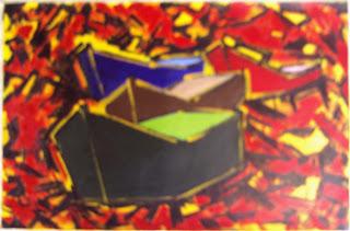 Clameli - 4ª Canoa Vermelha - Acrílico s/ tela
