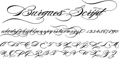 Burgues Script Elegant And Romantic Perfectly Describe