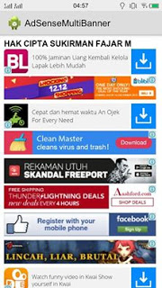 Tanggapan Para Mastah ADS.ID Tentang Adsense Multi Banner Android