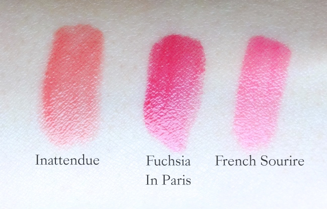 Lancome Shine Lover swatches