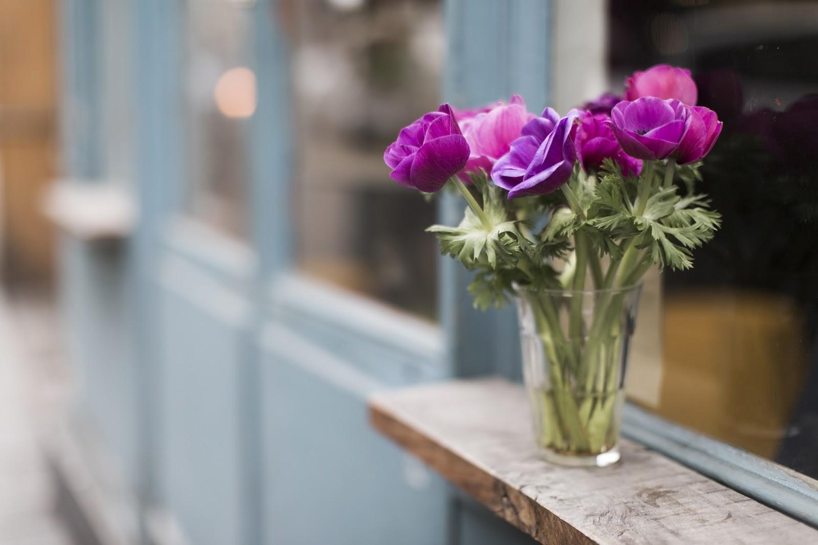 bouquet de fleurs violet