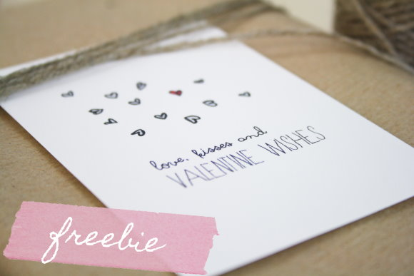 Free valentine printables