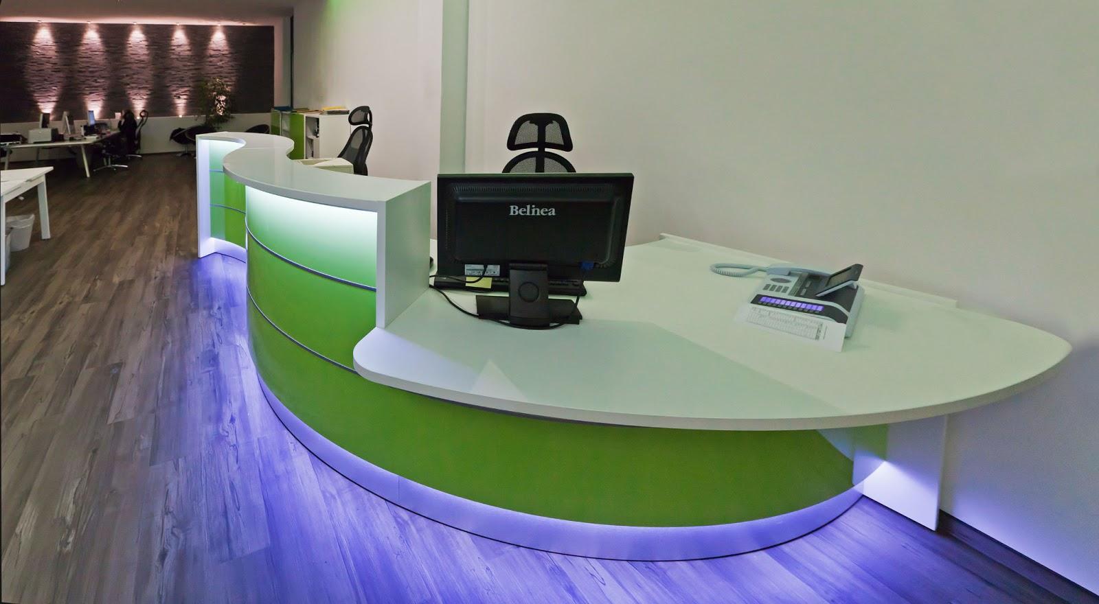 colour up your office moderne rezeptionen tresen b ro