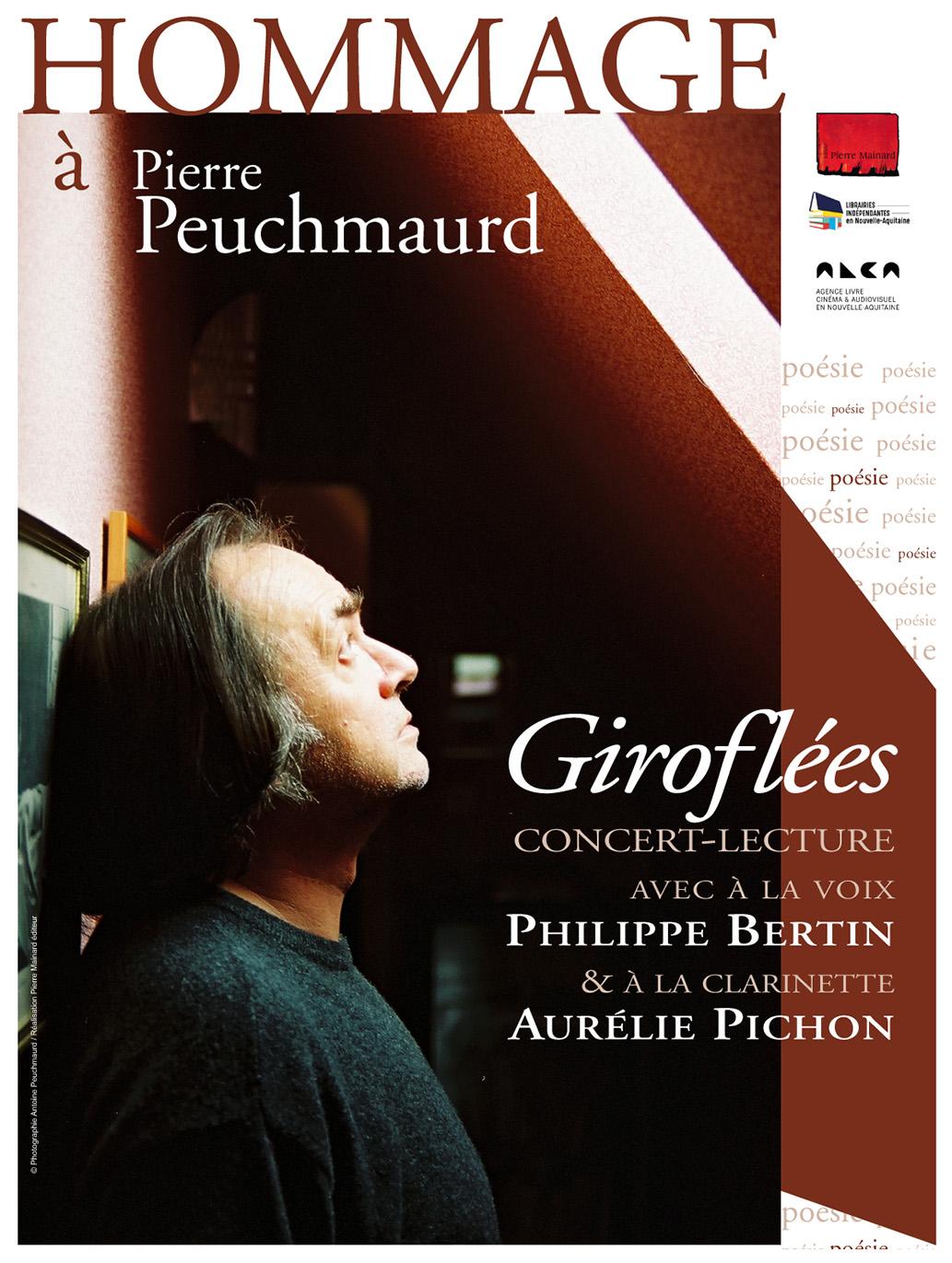 HOMMAGE À PIERRE PEUCHMAURD - Concert-Lecturepar Philippe BERTIN & Aurélie PICHON