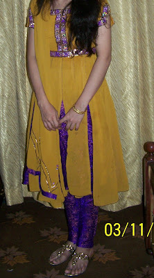 Beautiful yellow dresses for mehndi