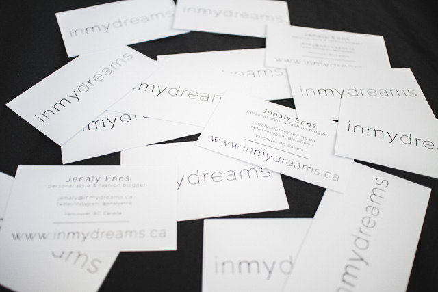 In My Dreams Personal Style and Fashion blogger business cards
