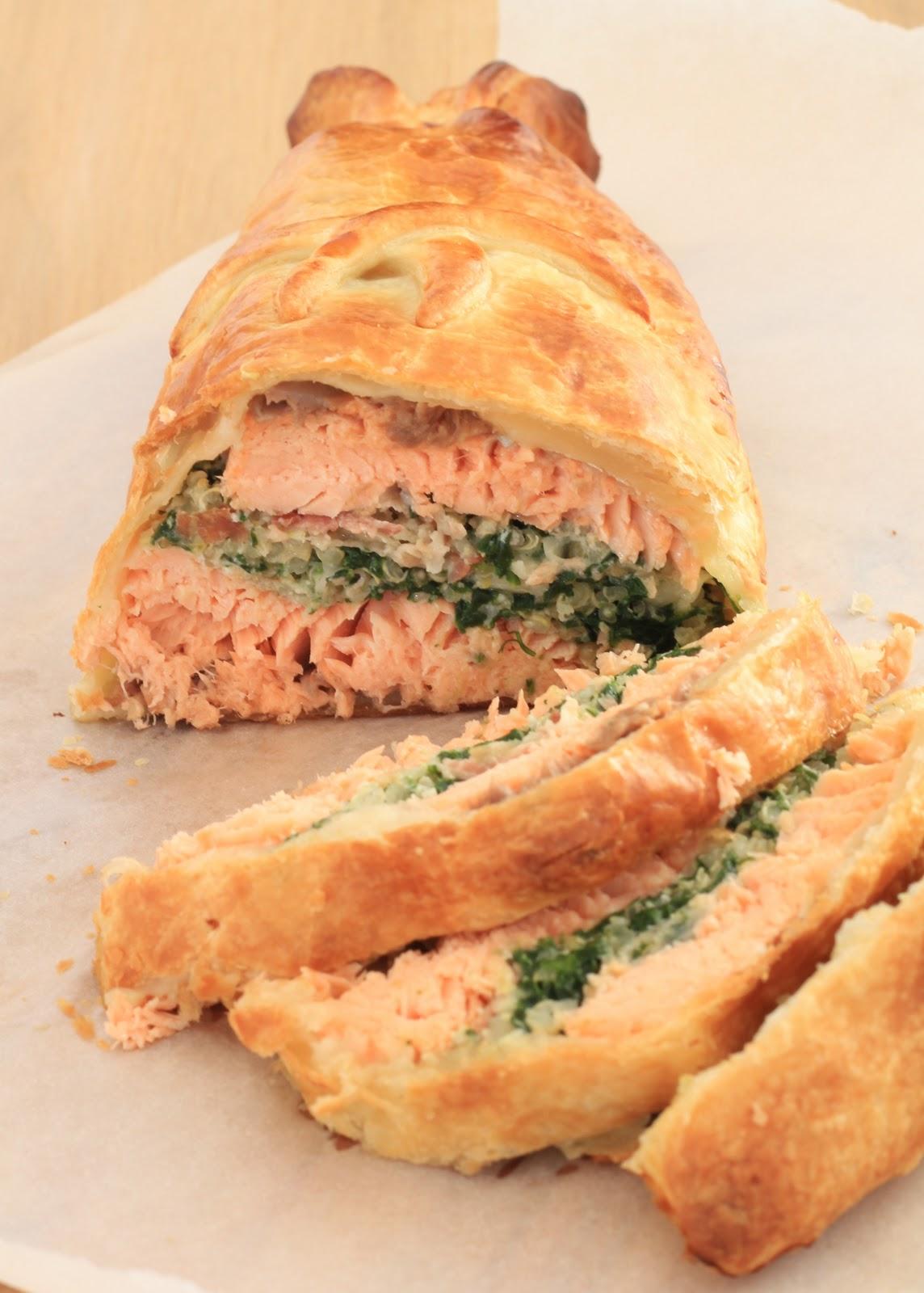 on dine chez nanou saumon wellington en croute de p 226 te feuillet 233 e