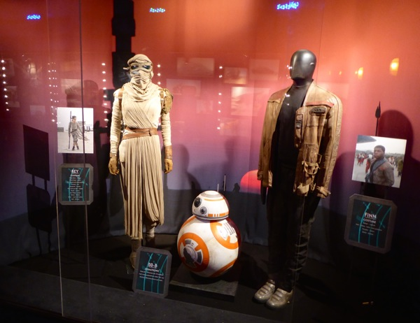 Star Wars Force Awakens film costume exhibit