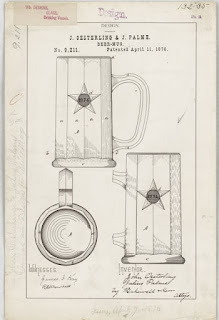 Beer mug patent poster from National Archives