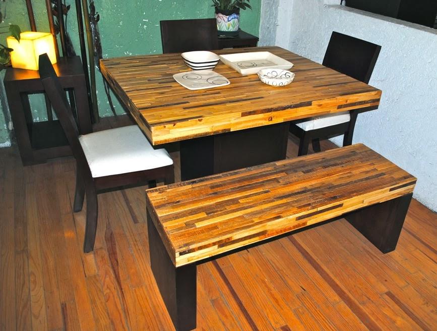 Muebles condesa comedores for Diseno de muebles con madera reciclada