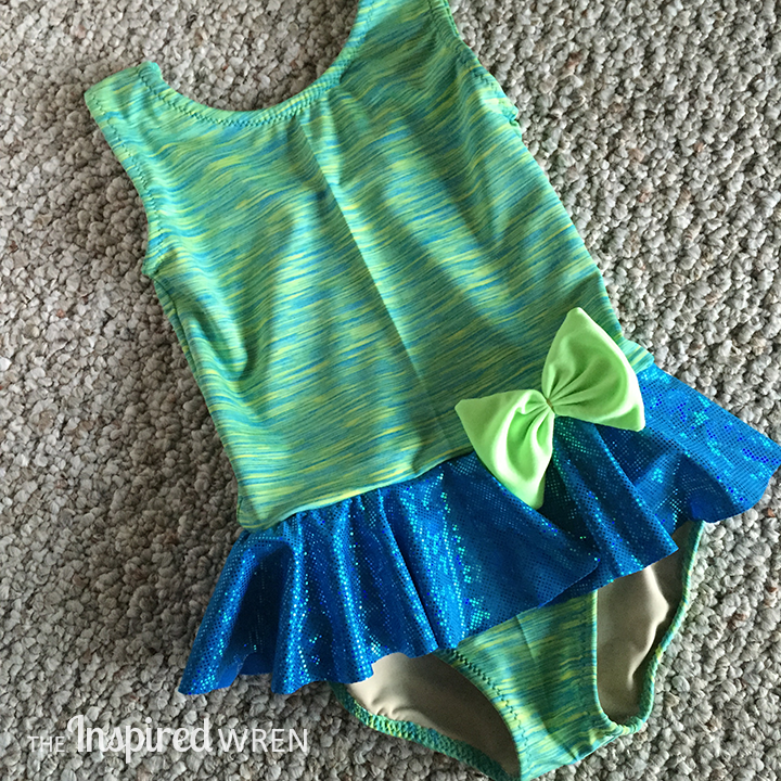 Love the fabric combo! My Childhood Treasures Leaotard/Swimsuit 2, View B | The Inspired Wren