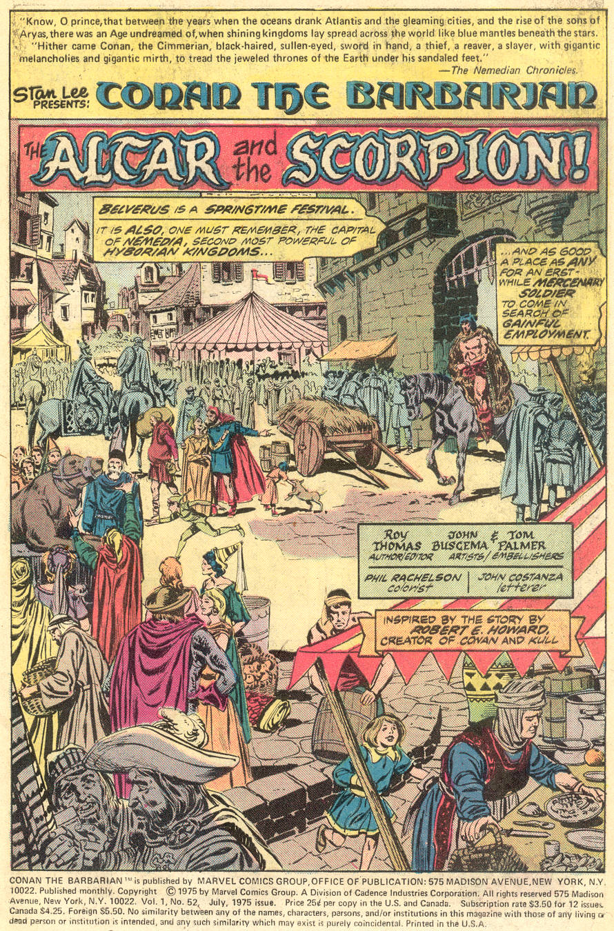 Conan the Barbarian (1970) Issue #52 #64 - English 2